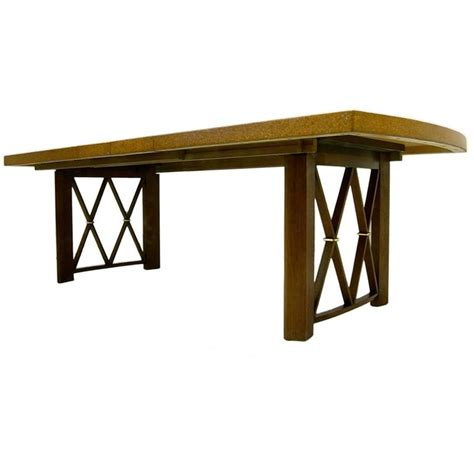 Dining Tables Cork Stunning Paul Frankl Cork Top Dining Table By Johnson Furniture Company At 1stdibs