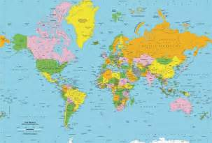 does the world map or globe shows united states larger