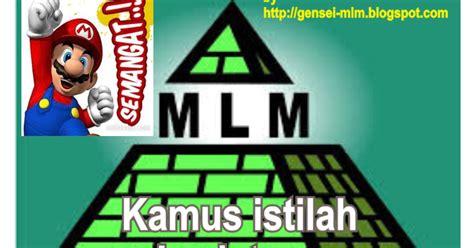 Kiat Sukses Dalam Bisnis Mlm mengenal lebih dalam kamus istilah bisnis mlm gensei