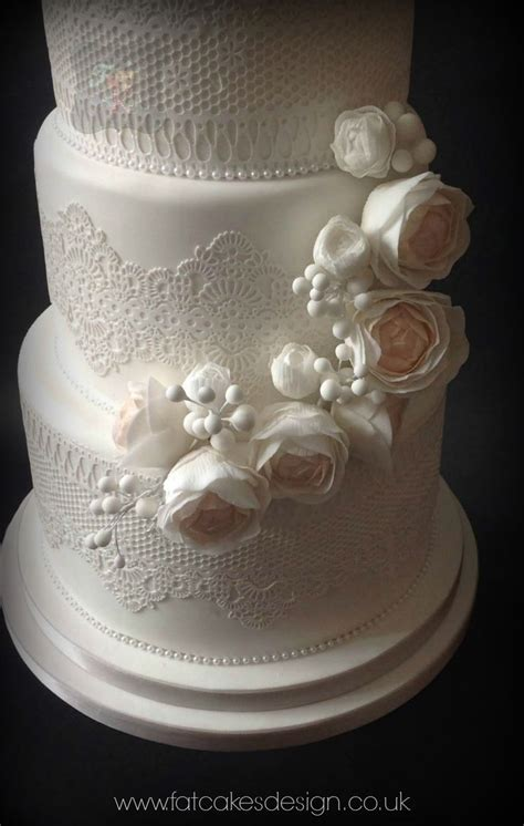 Wedding Cake Edible Lace by Edible Lace Wedding Cake With Soft Pastel Sugar Flowers