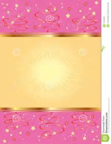 Red And Brown Wedding Decorations Pink Background With Gold And Stars Stock Photos Image