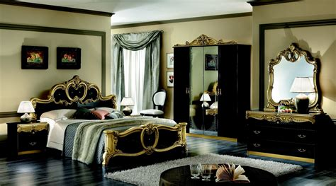 black bedroom furniture with gold trim home decor