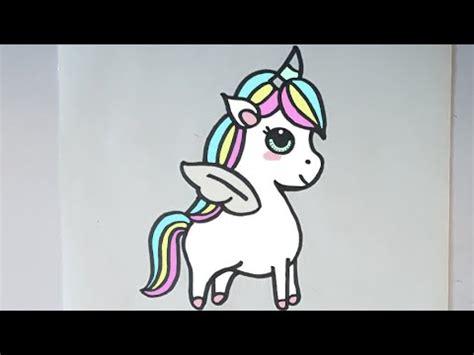 imagenes de unicornios hechos a lapiz como dibujar un unicornio kawaii paso a paso youtube