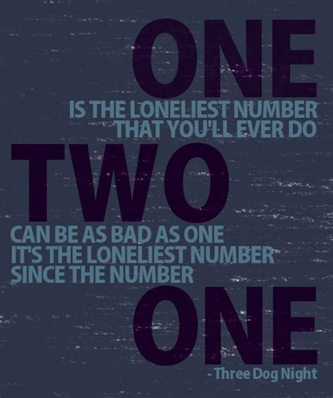 three one is the loneliest number one is the loneliest number cover f f info 2016
