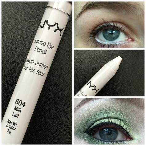 Nyx Jumbo White Pencil review nyx jumbo eye pencil in milk streaks and smudges