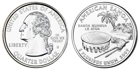 The American Quester 2009 D American Samoa State Quarters Value And Prices