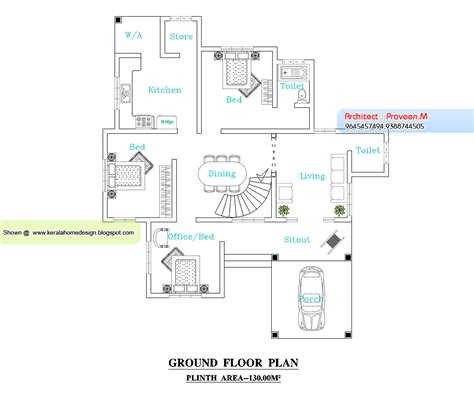 kerala home plan and elevation 2109 sq ft kerala
