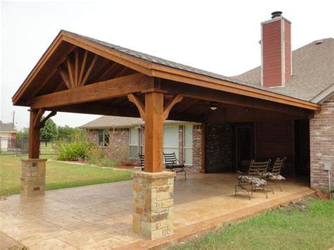 Patio Cover Designs - para el driveway de la cochera gable patio covers