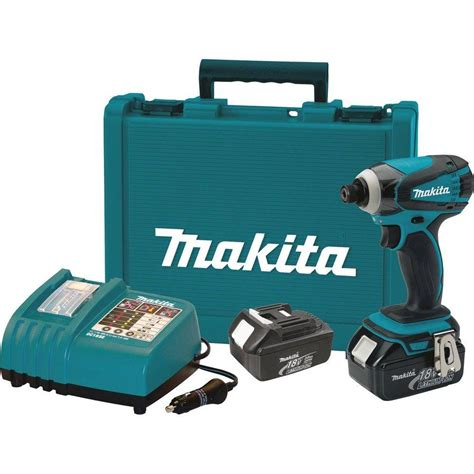 makita 18 volt lxt lithium ion 1 4 in cordless impact