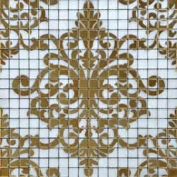 Tile gold mosaic collages design interior wall tile murals bathroom