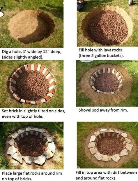 how to build a firepit in the ground 25 best ideas about cheap pit on cheap