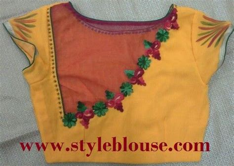 Cutting Of Saree Blouse Stitching by Models Of Blouse Designs Cross Cut Blouse Stitching
