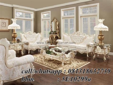 sofa tamu set italian model mewah ksi  furniture idaman furniture idaman
