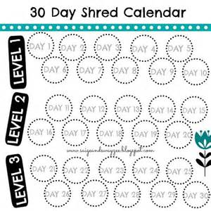 30 day shred calendar jillian 30 day shred 30ds