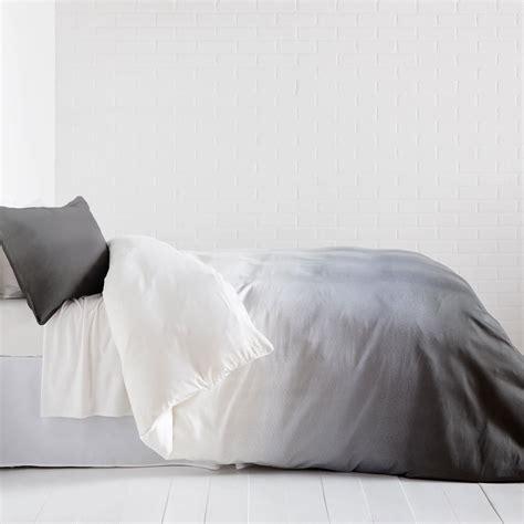 Duvet Cover Queen White Grey Ombre Duvet Cover And Sham Set Dormify