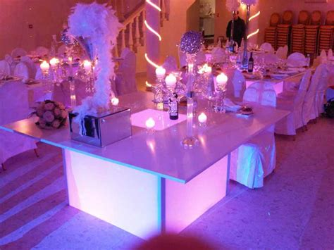 mariage th 232 me lumi 232 re d 233 coration mariage lumineux tables
