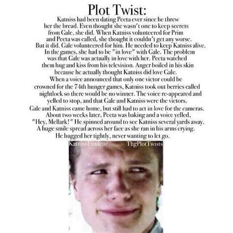 the hunger plot twist by for my thought on plot twist hunger catching and mockingjay
