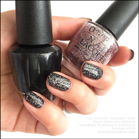 opi breakfast at tiffanys collection swatches review