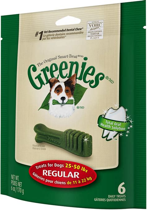 greenies for puppies greenies regular dental treats 6oz 6 count whitedogbone