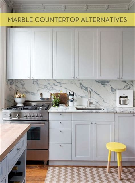 Kitchen Countertop Alternatives by Marble Countertop Alternatives Curbly