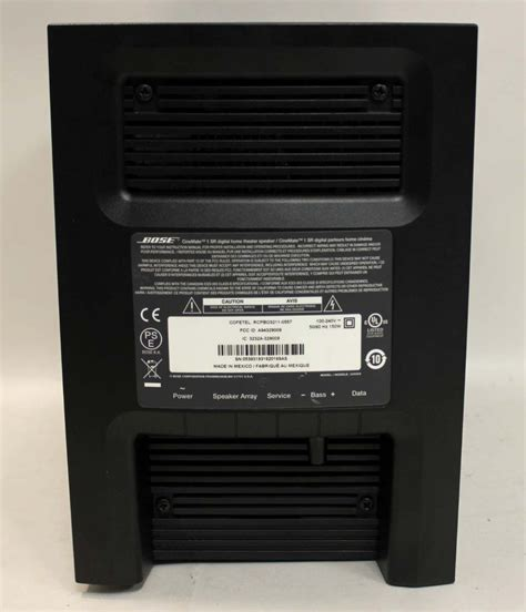 bose cinemate  sr digital home theater speaker system