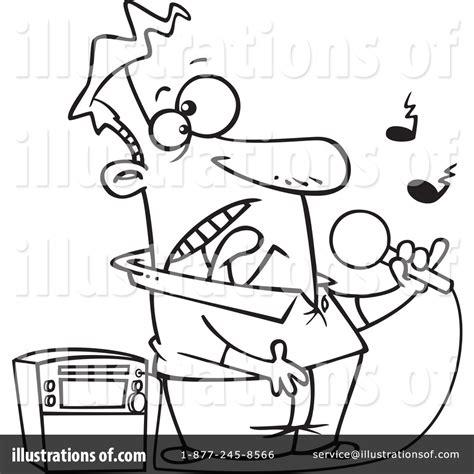 coloring book instrumental karaoke clipart 1067543 illustration by leishman