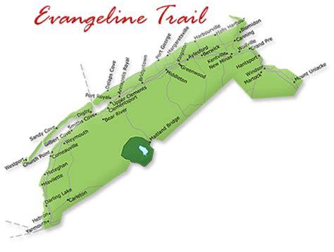 evangeline resort map evangeline trail