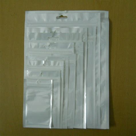 Plastik Seal Plastik Zipper 20x30 sle set white clear self seal zipper plastic retail