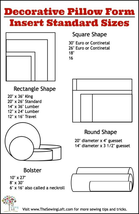 Pillow Sizes For Bed by Pillow Sizes Chart Bed Pillow Dimensions Design Ideas