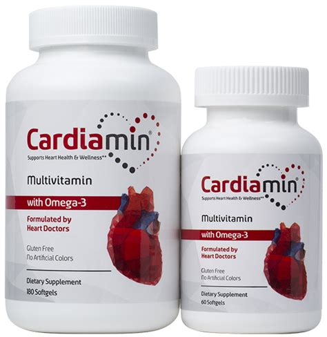 supplement health cardiamin multivitamin health supplement with omega 3s