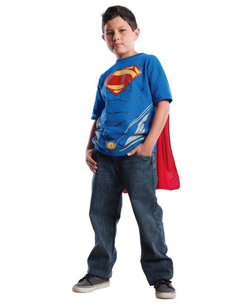 Tshirt L A P D t shirt con mantello di superman l uomo d acciaio per bambino
