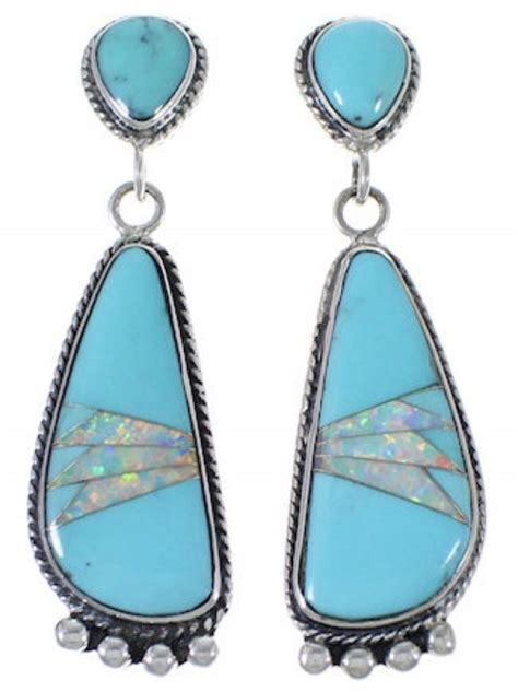 turquoise opal earrings turquoise opal southwest post dangle earrings fx31213
