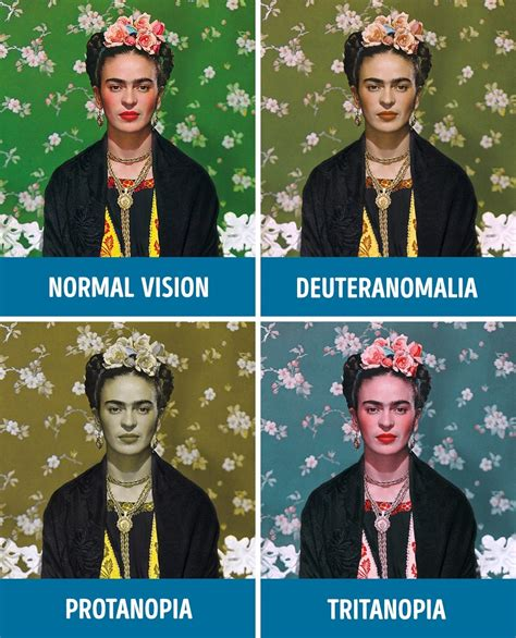 See What You Would Look Like With Different Color Hair | how people with different kinds of color blindness see the