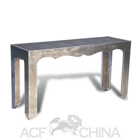 Silver Console Table Silver Leaf And Shagreen Narrow Console Table