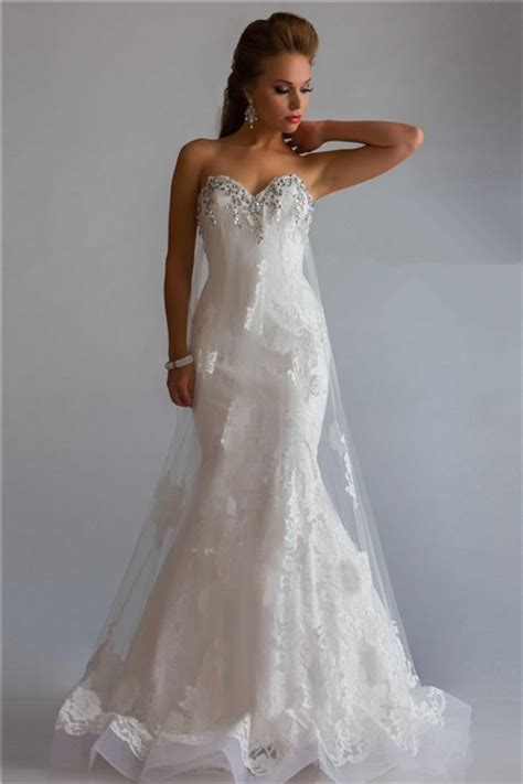 white lace prom dress princess mermaid sweetheart low back white lace tulle beaded evening prom dress