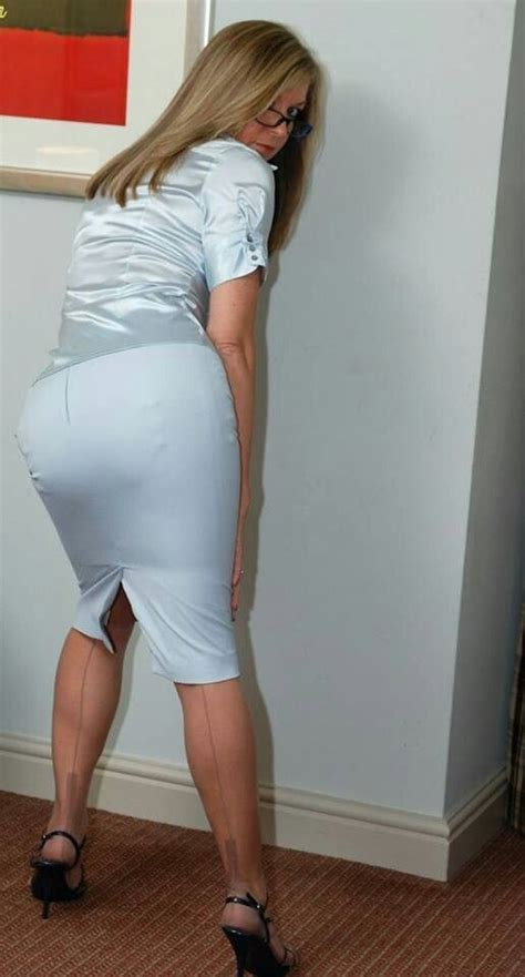 high heels pencil skirt tight blouse images