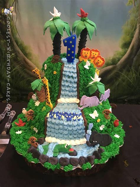 amazing homemade jungle cake   waterfall