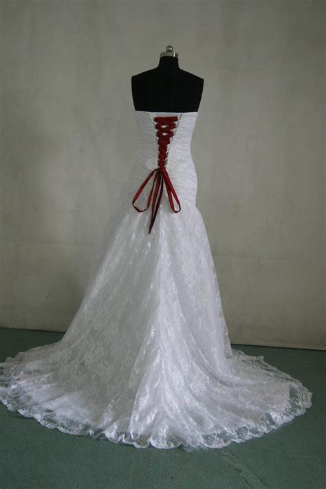 Re And White Wedding Dresses by White And Corset Wedding Dresses Www Pixshark