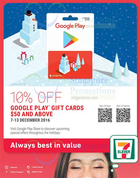 Gift Cards At 7 11 - google play gift cards going at 10 off at 7 eleven from 7 13 dec 2016