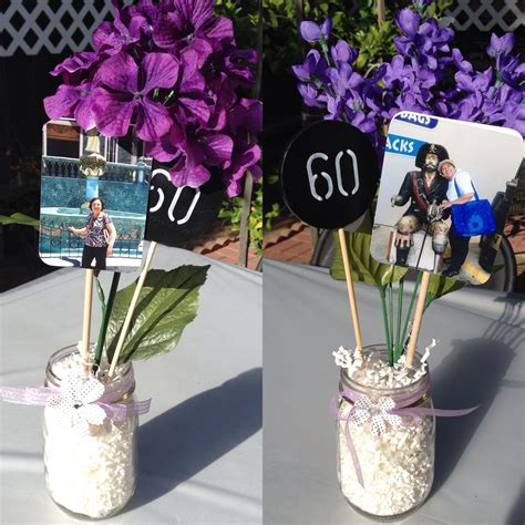 60th birthday centerpiece ideas table centerpieces jars birthday decorations