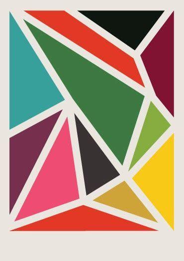 triangle pattern art geometric art diy ideas pinterest watercolor prints