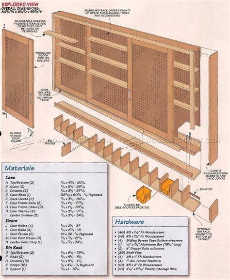 shop storage cabinet plans shop pegboard cabinet plans woodarchivist