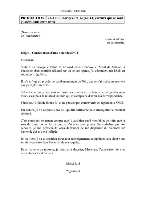 Exemple De Lettre Contestation Amende corriger contestation amende corrig 233