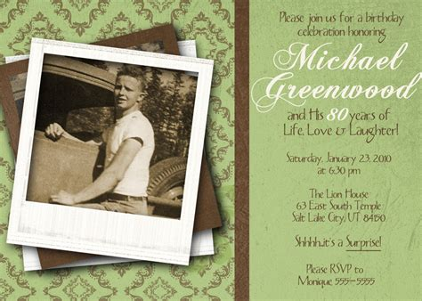 80th birthday invitation template 80th birthday celebration invitation