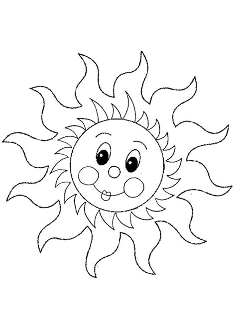 Cute Sun Coloring Page | free online sun colouring page kids activity sheets