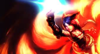 Champions Lighting Foxfire Ahri Wallpaper Splash Edit By Theltcolonel On
