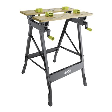 bunnings benches ryobi wooden foldable workbench bunnings warehouse