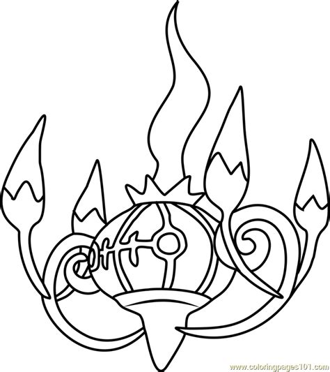 Pokemon Coloring Pages Chandelure | chandelure pokemon coloring page free pok 233 mon coloring