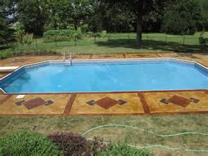 pool decks concrete mystique