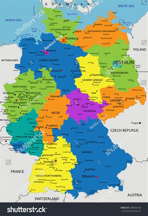 germany map political germany political map www pixshark images